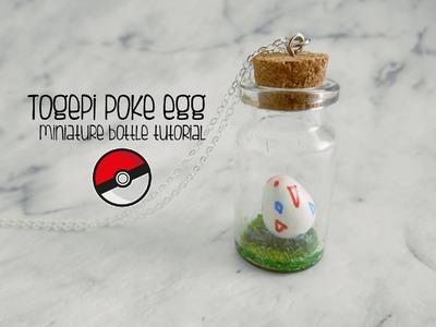 Miniature bottle: Pokemon Togepi poke egg