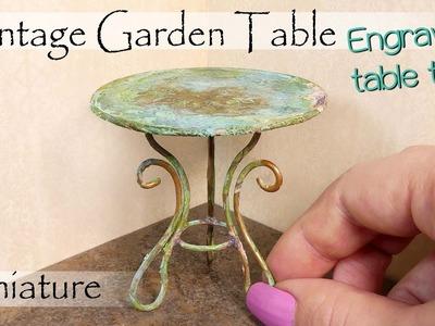 Miniature Vintage Garden Table Tutorial. DIY Dollhouse Furniture. SugarCharmShop