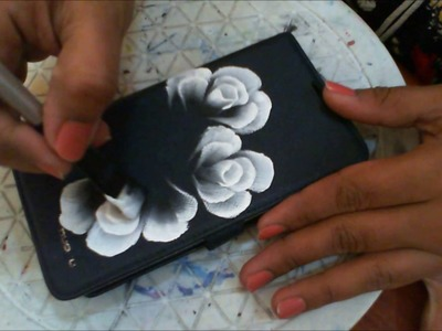 One Stroke Painting- 3d roses on phone cover