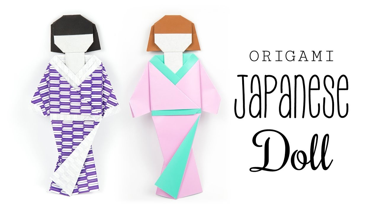 Origami Japanese Doll Tutorial ♥︎ DIY ♥︎ Paper Kawaii