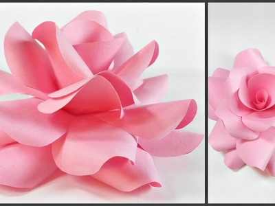 Paper flowers rose diy tutorial easy for children.origami flower folding 3d for kids,for beginners