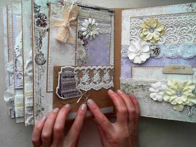 Scrapbook Binder Style Mini Album Blue Fern Studios DT Project for ReneaBouquets