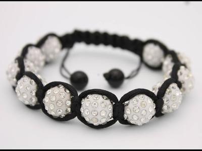 SHAMBALLA BRACELET DIY - how to make a shamballa macrame bracelets | diy macrame bracelet