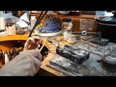 Soldering a Bezel to a Ring at Trios Studio