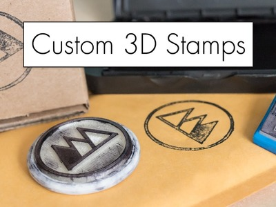 Stamp Anything! 3D Printed Custom Stamps