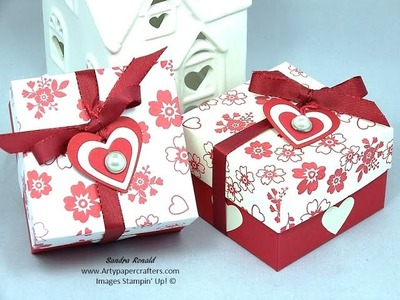Stampin' Up! Valentines Gift Box using Bloomin' Love