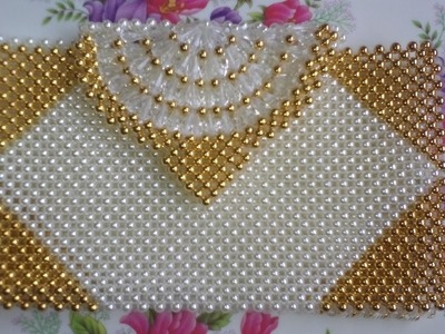 পুতির ব্যাগ.How to make a beaded purse(part-2).beaded bag