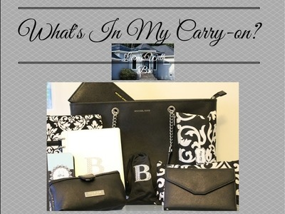 TRAVEL ORGANIZATION: Bre's Lifestyle - What's In My Travel Carry-On?