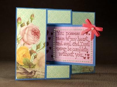 Valentine Love Card- Swing Card for Valentine's Day DIY Tutorial