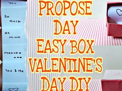 VALENTINE'S DAY DIY, Propose Day Easy Box, Craft Guru