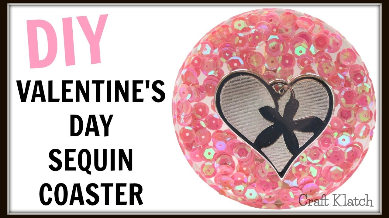 Valentine's Day Sequin Resin Coaster | DIY Projects | Another Coaster Friday | Craft Klatch | How To
