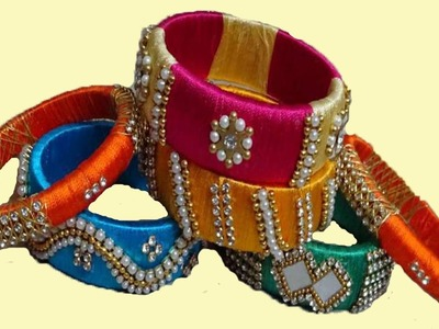 Amazing Fancy Designer Silk Thread Brindal Chuda Bangles Making at Home | Jewelry Bangles Collection