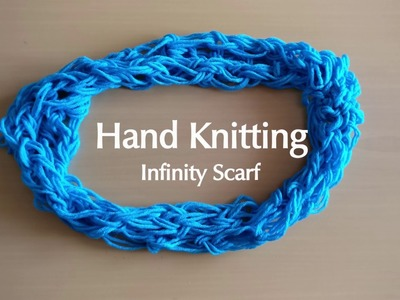 Arm Knitting an Infinity Scarf Super easy! (beginners.kids friendly)