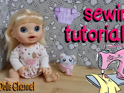 Baby Alive Doll Cloth Diaper Sewing Tutorial (It can actually absorb water!Just like a REAL diaper!)