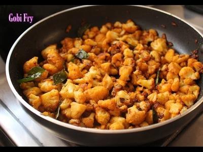 Cauliflower fry recipe-gobi stir fry dry-how to make gobi fry-cauliflower stir fry