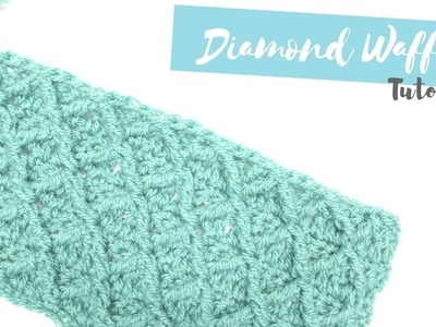 CROCHET: How to crochet the Diamond waffle stitch | Bella Coco
