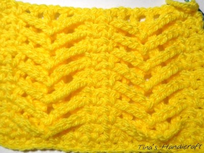 Crochet stitch No 13 (christmas trees)