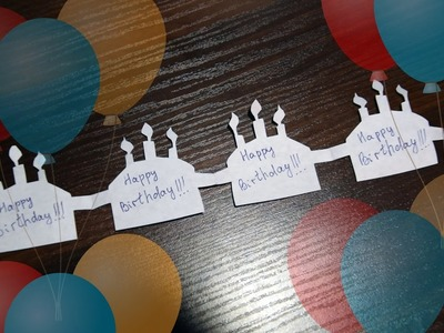 Decoration How to make Garland Happy Birthday out of paper with their hands
