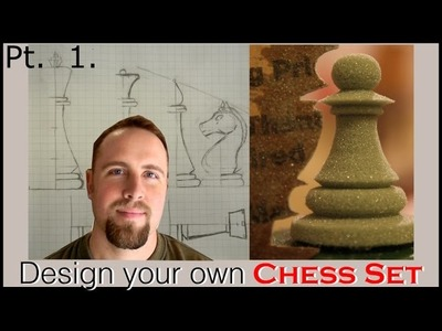 Design a Chess Set: Part 1 (the King) with Conrad Craft.