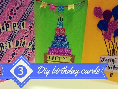 DIY- 3 Easy Greeting Card Ideas.!|Birthday cards for best friends |greeting cards|