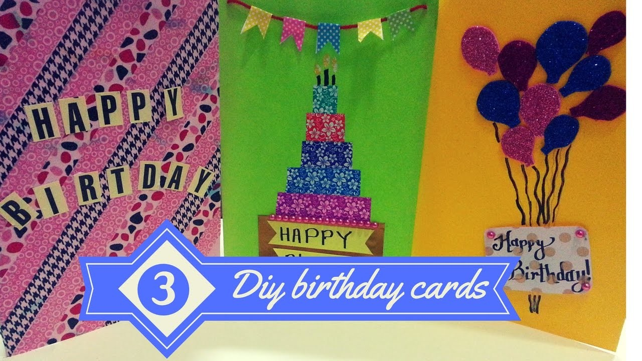 DIY- 3 Easy Greeting Card Ideas.! Birthday cards for best friends  greeting cards 