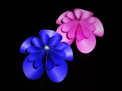 DIY Easy Simple   Flower Decoration   ( Made with Colorful Paper )   Art Strategy  
