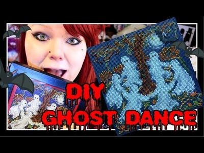 DIY GHOST DANCE CROSS-STITCH - Spooky Stitching and Framing (Buttons&Beads Autumn Series)