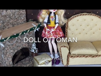 DIY - How to make: Easy Doll Ottoman || Dollhouse Furniture Crafts