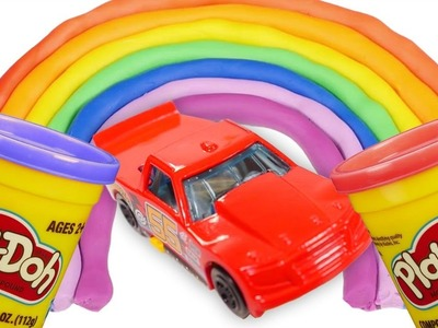 DIY How to make Play Doh Rainbow