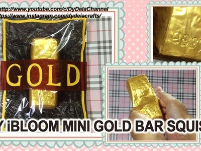 DIY iBLOOM MINI GOLD BAR SQUISHY + PACKAGING (ENGSUB)NO FABRIC PAINT