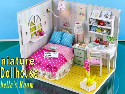 """DIY Miniature Dollhouse Kit With Working Lights """"Annabelle's Room"""""""