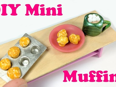 DIY Miniature Muffin Pan and Muffins: Doll Food