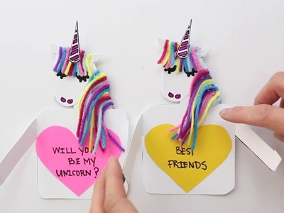 DIY Paper Unicorn Love Cards