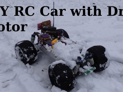 DIY RC Car little ride on the snow and unaspected break