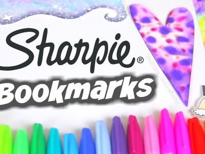 DIY SHARPIE WATERCOLOR BOOKMARKS - Paint & Water Marble with Alcohol. SoCraftastic