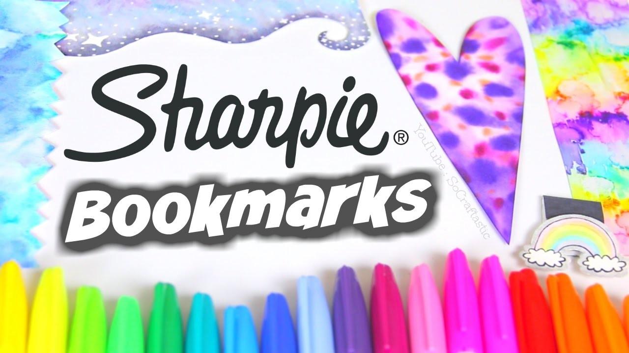 Diy Sharpie Watercolor Bookmarks Paint Water Marble