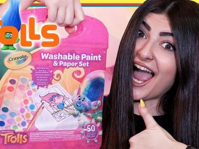DIY Trolls Crayola Washable Paint Kit - Trolls Dreamworks Glitter Painting