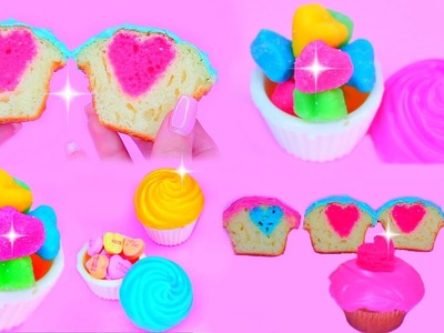 DIY Valentine's Day Treats! DIY V-DAY Heart Surprise Cupcakes! DIY Bake a HEART inside a CUPCAKE
