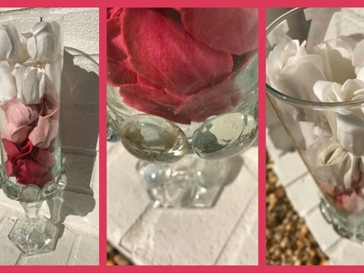 Dollar Tree Elegant Rose Vase DIY. Wedding Decoration Idea