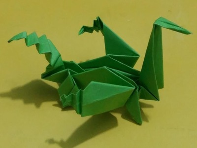 Dragon origami - how to make horrible dragon origami - crafts ideas