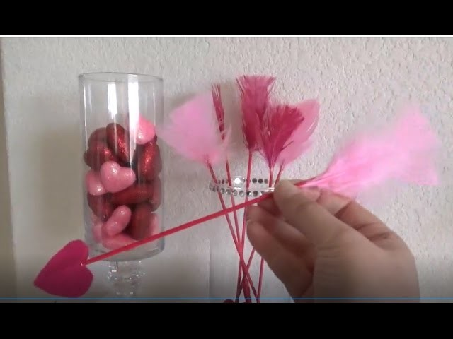 Easy Valentine's Day DIY, Cupid Arrows and more , with Dollar Tree Items  (valentine's day crafts)