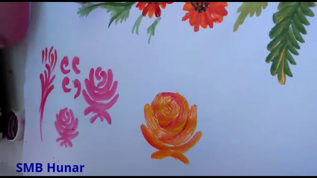 Fabric Painting-How To Make Rose In 3 Ways