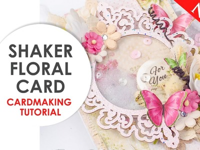 ♥FLORAL CARD♥ CARDMAKING TUTORIAL. How to make a Floral Card. Paper and Chipboard Lemoncraft