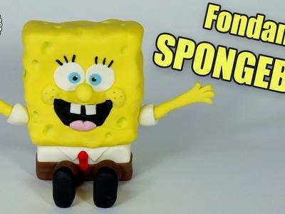 Fondant SPONGEBOB cake topper! How to make Spongebob figurine