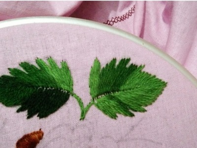 Hand embroidery how to make rose leaves