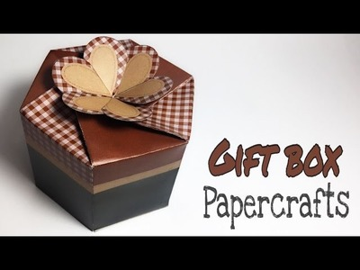 HEXAGONAL GIFT BOX PAPER CRAFTS TUTORIAL !