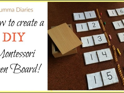 How to create a Montessori Math Teen Board on a budget! (DIY)