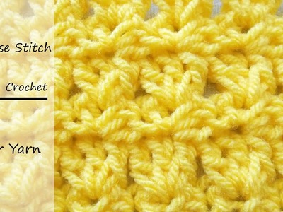 How to crochet the Primrose Stitch || Easy tutorial