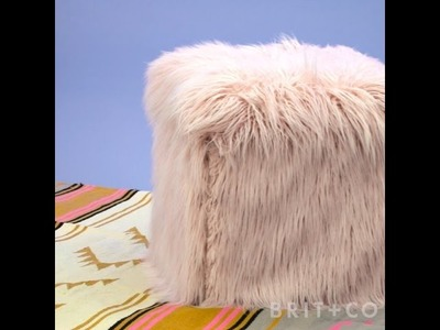 How to DIY a Faux Fur Ottoman