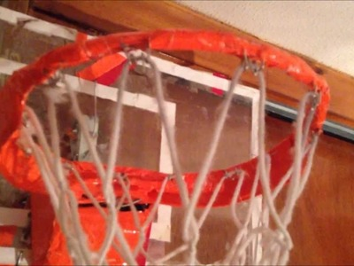 HOW TO MAKE A BASKETBALL HOOP!!!